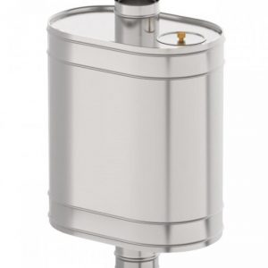Бак овальный для печи на трубе, объем 43 л, нерж. 0,8мм