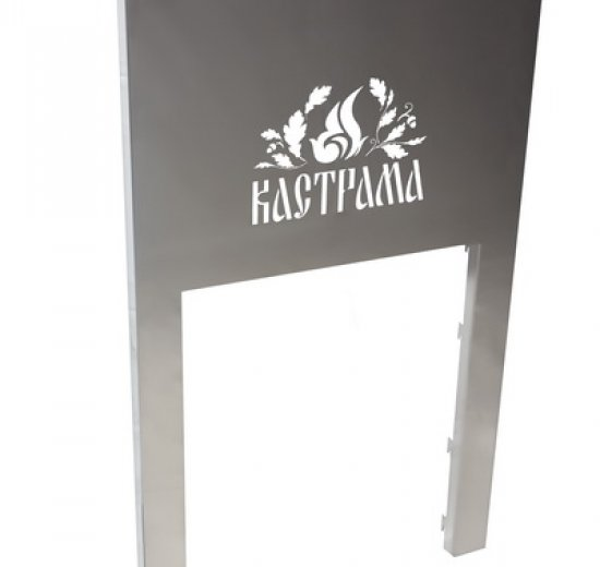 Рамка декоративная нерж. сталь для печи КАСТРАМА Classic ДТГ-8АС